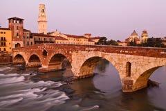 Puente en Verona Imagenes de archivo