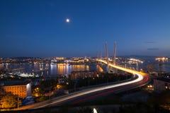 Puente en Vladivostok Imagen de archivo libre de regalías
