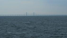 Puente entre el mar de Suecia Dinamarca almacen de metraje de vídeo