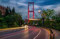 Puente Estambul Turquía de Bosphorus foto de archivo libre de regalías