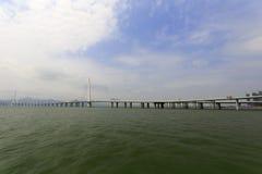 Puente famoso de la bahía de Shenzhen Fotos de archivo libres de regalías
