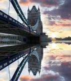 Puente famoso de la torre, Londres, Reino Unido Foto de archivo libre de regalías