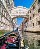 Puente famoso de suspiros, Venecia Italia Imagenes de archivo