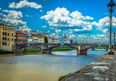 Puente famoso en Florencia, Italia Foto de archivo libre de regalías
