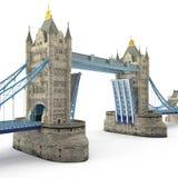Puente famoso Londres, Reino Unido de la torre en blanco ilustración 3D libre illustration