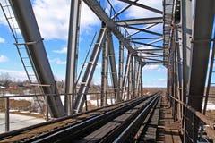 Puente ferroviario foto de archivo libre de regalías