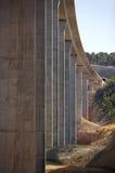 Puente ferroviario bajo construcción Fotos de archivo libres de regalías