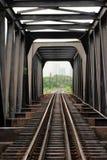 Puente ferroviario de acero Fotografía de archivo