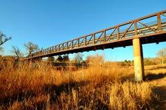 Puente ferroviario de acero viejo, Colorado Springs fotografía de archivo libre de regalías