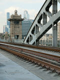 Puente ferroviario de Berezhkovskaya del fragmento Fotografía de archivo libre de regalías