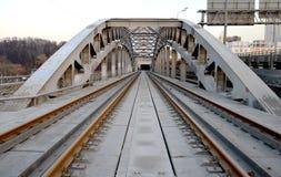 Puente ferroviario del metal Imagenes de archivo