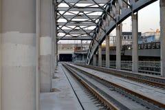 Puente ferroviario del metal Imágenes de archivo libres de regalías