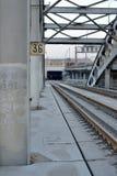 Puente ferroviario del metal Fotografía de archivo