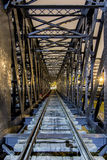 Puente ferroviario del metal del tren imagen de archivo