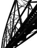 Puente ferroviario dilapidado fotografía de archivo