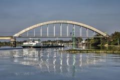 Puente ferroviario en Culemborg Imagenes de archivo