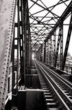 Puente ferroviario retro Imagen de archivo libre de regalías