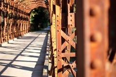 Puente ferroviario viejo Imágenes de archivo libres de regalías