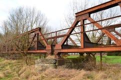 Puente ferroviario viejo Fotografía de archivo