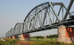Puente ferroviario viejo Fotos de archivo libres de regalías