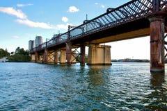 Puente ferroviario viejo de Meadowbank, NSW imagen de archivo
