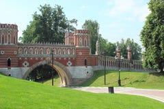 Puente figurado en Tsaritsyno. Moscú. Fragmento. Imágenes de archivo libres de regalías