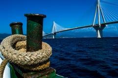 Puente francés en Grecia Antirio Fotografía de archivo libre de regalías