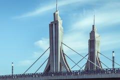 Puente futurista en Pekín, China foto de archivo