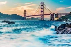 puente Golden Gate de la playa del ordenar Fotos de archivo libres de regalías