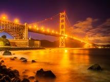 Puente Golden Gate de la puesta del sol Fotografía de archivo libre de regalías
