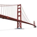 Puente Golden Gate en blanco ilustración 3D Imagen de archivo libre de regalías
