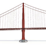 Puente Golden Gate en blanco ilustración 3D libre illustration