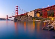 Puente Golden Gate en el amanecer Fotografía de archivo libre de regalías