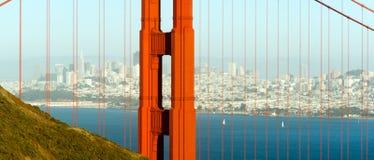 Puente Golden Gate panorámico San Francisco Marin County Headland Foto de archivo libre de regalías