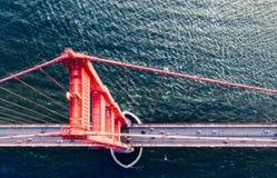 Puente Golden Gate pasa por alto foto de archivo libre de regalías
