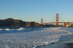 Puente Golden Gate San Francisco del panadero Beach Foto de archivo libre de regalías