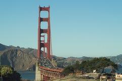 Puente Golden Gate, San Francisco, los E.E.U.U., visión desde la playa del panadero foto de archivo