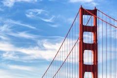 Puente Golden Gate: Torre del norte Imagen de archivo libre de regalías