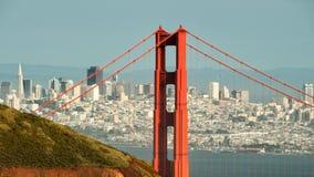 Puente Golden Gate y San Francisco céntrico Fotos de archivo libres de regalías