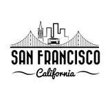 Puente Golden Gate y tranvía ilustración del vector