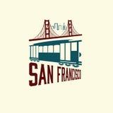 Puente Golden Gate y tranvía libre illustration