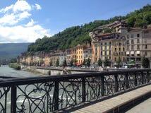 Puente a Grenoble Foto de archivo libre de regalías