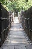 Puente hecho de la madera Imagenes de archivo