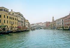 Puente hermoso de Rialto Imagen de archivo libre de regalías
