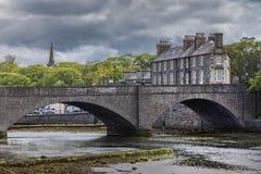 Puente histórico en la mecha, Escocia Imagenes de archivo