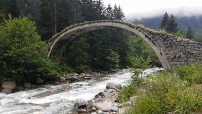 Puente histórico Taskopru del otomano en Senyuva, Rize, Turquía almacen de video