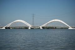 Puente IJburg Países Bajos de Heerma Fotos de archivo