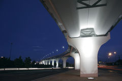Puente iluminated Fotos de archivo