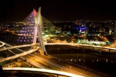 Puente de Octavio Frias de Oliveira Foto de archivo