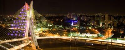 El puente de Octavio Frias de Oliveira Imagen de archivo libre de regalías